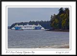 B.C. Ferry Entering Departure Bay