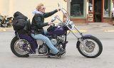 Lady Biker on her Shovel