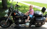 Rebecca Rides a Harley