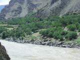 Afghan village across the Pyanj river