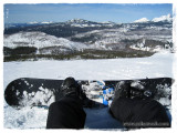 Taking in the view from the top at Hoodoo ski resort near Sisters, OR