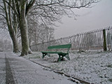 the wintery bench