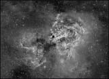 The Swan nebula - Hydrogen Alpha only
