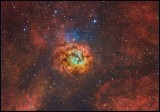 The Trifid nebula - Hubble color mapped