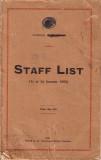 Zanzibar Civil Service Staff List 1960