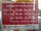 Ulm Burger King open times