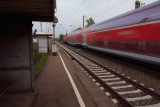 passing train at Salach