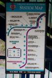 Virginia Railway Express system map