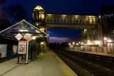 Franconia station at night