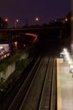 Franconia station at night vertical