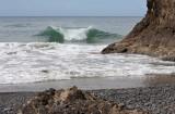 three arch rocks wave