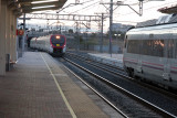 train approaching Villaverde Alto station