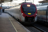 train arriving at Villaverde Alto station