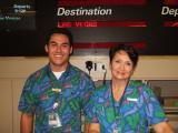 SNA  Manager Danny & CSA Karen working AQ482 SNA-LAS
