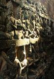 Carved Wall, Angkor, Cambodia