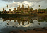 Angkor Wat - waited over an hour for the clouds to move across, sitting on wet sand being eaten by fire ants!