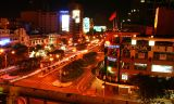 Saigon by night, from the balcony of the Rex Hotel, Vietnam
