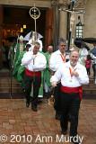 Sunday morning procession