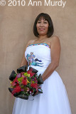 Laverna Goldtooth in wedding dress