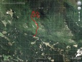 Bald Knob Turtleback Hike on Google Earth Image
