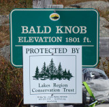 Bald Knob Sign at Summit