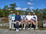 Hiker Guys at Bald Knob Summit
