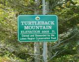 Turtleback Mtn. Sign at Summit