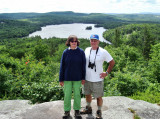 Bev and Rich at the Peak, Overlooking Sunset Lake