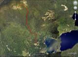 Track to Peak on Google Earth Satellite Image