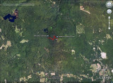 GPS Track on Google Earth Satellite Photo
