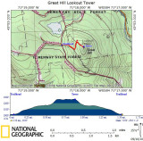 GPS Track on Topographical Map