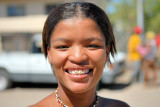 Namibian lady with golden smile