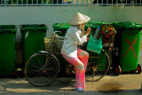 Lady selling her products in Saigon