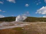 Upper geyser basin, Old Faithful geyser