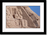 Statue of Ramses II and Nefertari