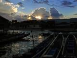 Harbor of Nyaungshwe at dusk.jpg
