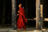 Monk at wooden monastery at Inle.jpg