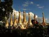 Golden stupas near Nanthe Village.jpg
