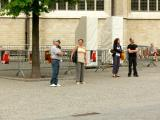 Tourists near town hall