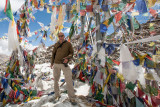 Me, at the Khardung La Pass (18,380 feet, 5602 m), shot by my son Mike