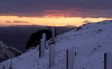 Looking out to ruthin North Wales from Moel Famau  At sunset