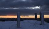 very cold at the top. Moel Famau North Wales