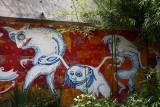 Forest elves - grafit on the wall (gozdni skratje ok.jpg)