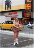 The Naked Cowgirl in Times Square b