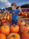 Aidan Julian visit GA Pumpkin Patch 10-11-09