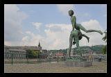 Liège, Statue along river Meuse
