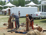 Chainsaw Carving Championships in Chetwynd, B.C.