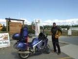 Mile 1422, the End of the Alaska Highway in Delta Junction