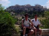 Jerome and Me in Front of the Acropolis