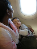 Rahil slept through most of the flight.
